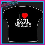 I LOVE HEART PAUL WESLEY VAMPIRE DIARIES TSHIRT